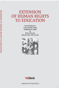 Extension Of Human Rights To Education – PoliTeknik